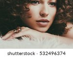 pretty girl with long and shiny ... | Shutterstock . vector #532496374