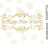 vector calligraphic vintage... | Shutterstock .eps vector #532497721