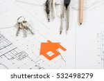 architect workplace top view.... | Shutterstock . vector #532498279