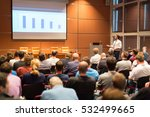 speaker giving a talk in...   Shutterstock . vector #532499665