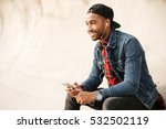 cheerful african young man... | Shutterstock . vector #532502119