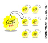 yellow glass sale labels set. | Shutterstock .eps vector #532502707