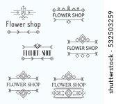 emblem for flower shop. vector... | Shutterstock .eps vector #532503259