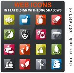 beauty and spa icons set in... | Shutterstock .eps vector #532504174