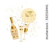 assorted sparkling wine glasses ... | Shutterstock .eps vector #532510441