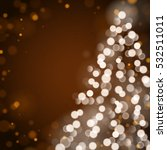 christmas tree unfocused... | Shutterstock .eps vector #532511011