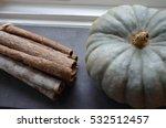 cinnamon sticks and pumpkin | Shutterstock . vector #532512457