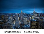 the new york city in the night... | Shutterstock . vector #532515907