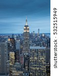 the new york city in the night... | Shutterstock . vector #532515949