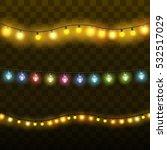 christmas lights isolated... | Shutterstock .eps vector #532517029