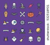 halloween minimal color flat... | Shutterstock .eps vector #532518931