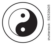 yin yang symbol of harmony and... | Shutterstock .eps vector #532520635