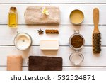 spa treatments on wooden... | Shutterstock . vector #532524871