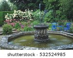water feature with fountain and ... | Shutterstock . vector #532524985