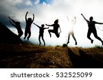 blurred of silhouette people... | Shutterstock . vector #532525099