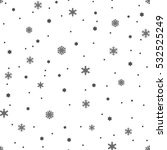 snowflake simple seamless... | Shutterstock .eps vector #532525249