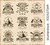 native american indians  apache ... | Shutterstock .eps vector #532527349