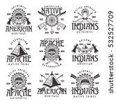 native american indians  apache ... | Shutterstock .eps vector #532527709