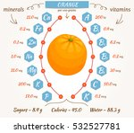 the content of minerals and... | Shutterstock .eps vector #532527781