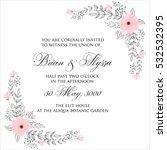 elegance wedding invitation... | Shutterstock .eps vector #532532395