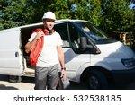 young electrician artisan... | Shutterstock . vector #532538185