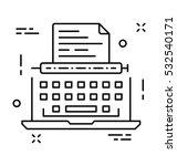 typewriter vector icon   Shutterstock .eps vector #532540171