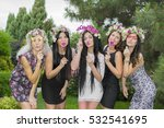 five beautiful young girls... | Shutterstock . vector #532541695