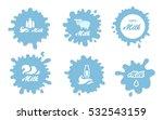 milk splash vector elements and ... | Shutterstock .eps vector #532543159