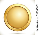 shiny gold coin isolated on a...