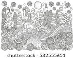 pattern for coloring book with... | Shutterstock .eps vector #532555651