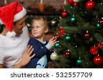 loving father  son near tree | Shutterstock . vector #532557709