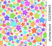 seamless pattern for childish... | Shutterstock . vector #532558405