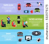 car safety systems horizontal... | Shutterstock .eps vector #532575175