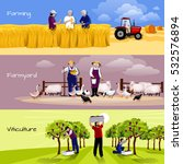 farming people 3 flat... | Shutterstock .eps vector #532576894