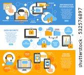 information technologies flat... | Shutterstock .eps vector #532576897