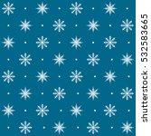 snowflake pattern. seamless... | Shutterstock .eps vector #532583665
