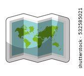world map paper geography icon... | Shutterstock .eps vector #532585021
