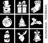 christmas icon set.   Shutterstock .eps vector #532586641