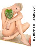 portrait of naked young woman... | Shutterstock . vector #53259199