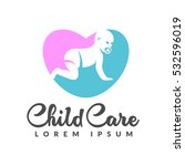 baby logo. baby care icon....   Shutterstock .eps vector #532596019