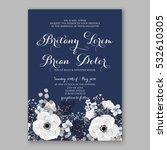 wedding invitation floral... | Shutterstock .eps vector #532610305