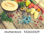 fruits  vegetables and in... | Shutterstock . vector #532610329