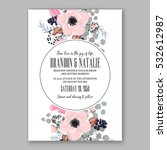 wedding invitation floral... | Shutterstock .eps vector #532612987