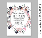 wedding invitation floral...   Shutterstock .eps vector #532613119
