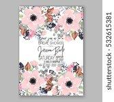 wedding invitation floral... | Shutterstock .eps vector #532615381