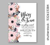 wedding invitation floral... | Shutterstock .eps vector #532615384