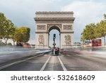 triumphal arch. paris. france.... | Shutterstock . vector #532618609