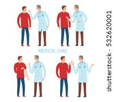 patient and doctor set.... | Shutterstock .eps vector #532620001