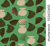 seamless sea pattern  halftone .... | Shutterstock .eps vector #532622605