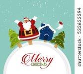 merry christmas scene with... | Shutterstock .eps vector #532623394